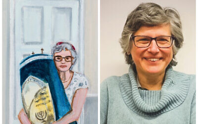 The portrait, and Rabbi Dr Margaret Jacobi