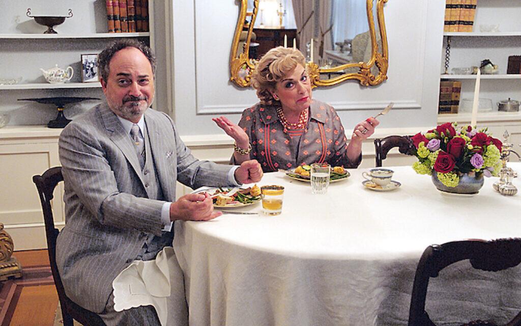 Caroline as Shirley Maisel with screen husband Moishe (Kevin Pollak)