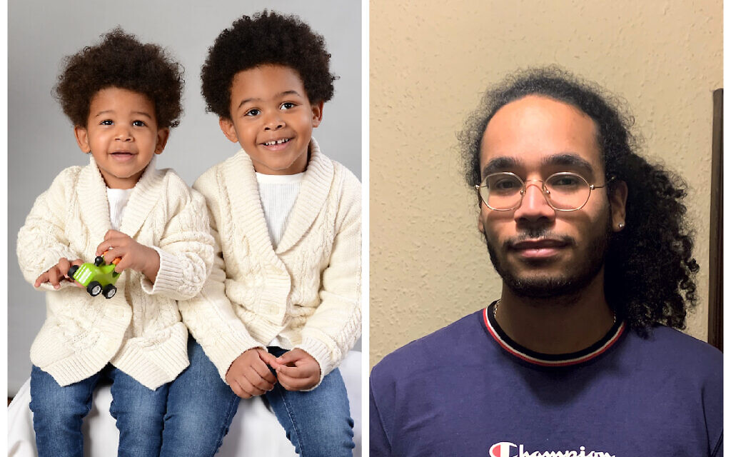 We speak to parents of mixed race Jews  about the challenges they face in a community coming to terms with its internal problems of acceptance.  Left:  Zachary, 2, and Joshua, 4. Right: Curtis.