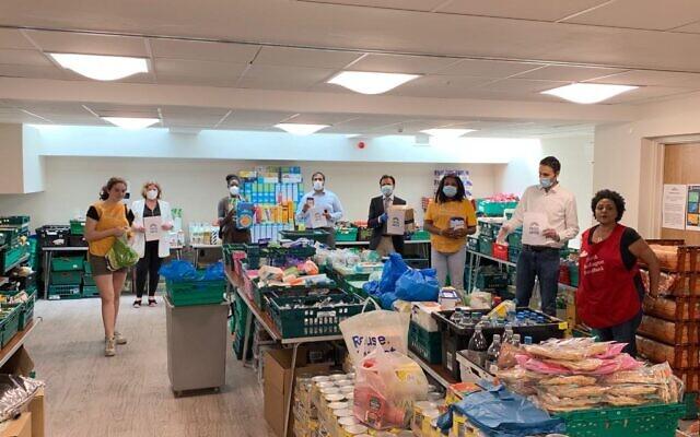 Faiths United at North Paddington food bank, with Karen Buck MP