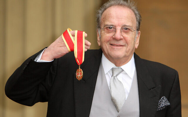 Playwright Sir Ronald Harwood with his Knighthood medal awarded by the Prince of Wales at an investiture ceremony at Buckingham Palace, London.