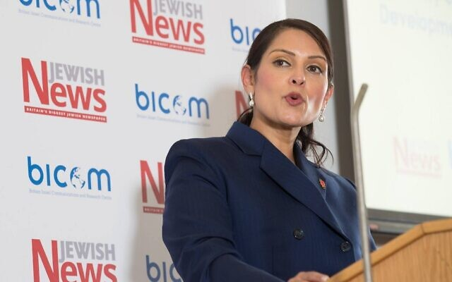 Priti Patel speaking at Jewish News-BICOM's Israel Policy Conference