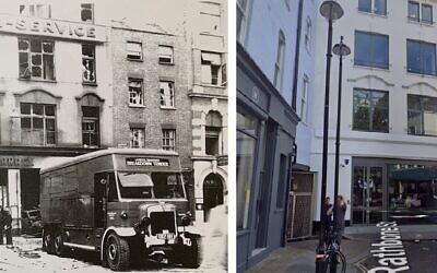 Rathbone St then and now