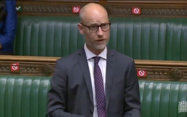 Stephen Kinnock speaking in the Commons