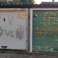 Swastikas daubed on garages in Borehamwood