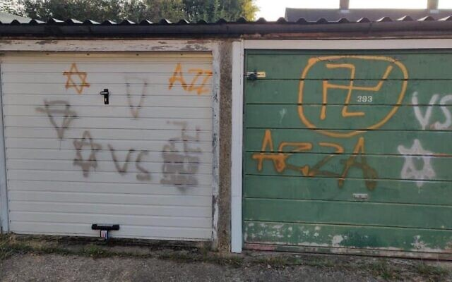 Swastikas daubed on garages in Borehamwood