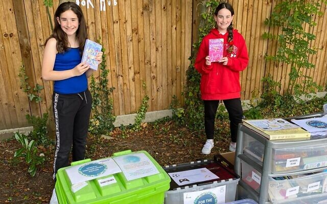 Scarlett Hershkorn (left) and Miriam Burns (right) at the Stanmore book Hub