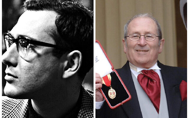 Harold Pinter and Arnold Wesker, after receiving his knighthood