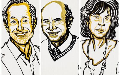 L-R: Paul Milgrom, Harvey J Alter, Louise Gluck.