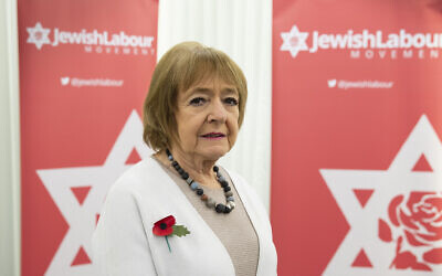 Dame Margaret Hodge, Parliamentary Chair of the Jewish Labour Movement, during a press conference by the JLM at the offices of Mishcon de Reya in London, following the publication of damming anti-Semitism report by the Equality and Human Rights Commission (EHRC).