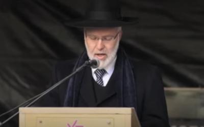 Argentine Chief Ashkenazi Rabbi Gabriel Davidovich (Screen shot from YouTube via JTA)