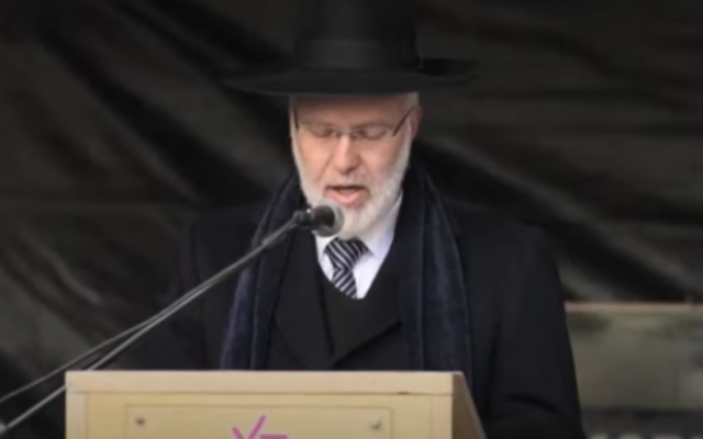 Argentine Chief Ashkenazi Rabbi Gabriel Davidovich (Screen shot from YouTube via JTA)