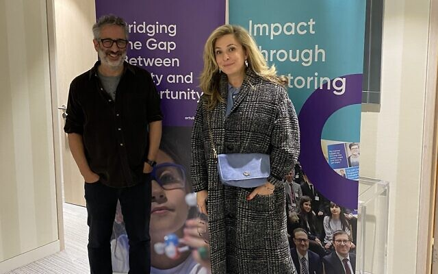 David Baddiel and Tracy-Ann Oberman