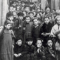 Jewish children pictured in Warsaw in 1897