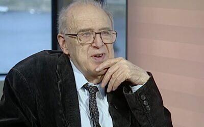 Screenshot from Youtube of Sir Samuel Brittan (Financial Times: https://www.youtube.com/watch?v=jj729Vb2s48)