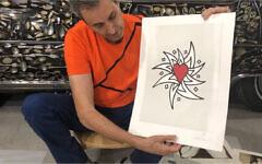 Uri with his art