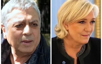 Enrico Macias (Wikipedia/Author	Georges Biard/ Attribution-ShareAlike 3.0 Unported (CC BY-SA 3.0)) and Marine Le Pen (Wikipedia/Attribution: Kremlin.ru /Attribution 3.0 Unported (CC BY 3.0))