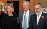 Lord and Lady Sacks with Stuart Glyn, Former MDA UK chairman