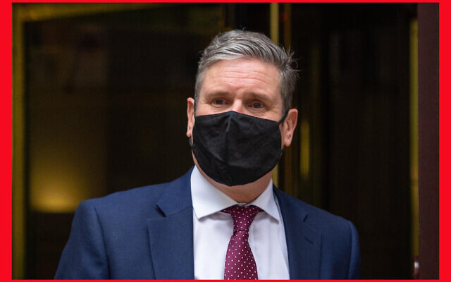 PABEST Labour party leader Sir Kier Starmer leaves Millbank Studios in Westminster, London, after former party leader Jeremy Corbyn was suspended from the party after the Equality and Human Rights Commission found it broke equality law in its handling of anti-Semitism.