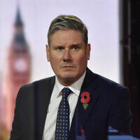Labour Party leader Sir Keir Starmer appearing on the BBC1 current affairs programme, The Andrew Marr Show. (PA Media/Jeff Overs/BBC)