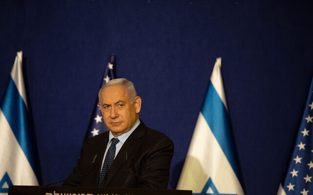 Former Israeli Prime Minister Benjamin Netanyahu. Photo by: Maya Alleruzzo, Pool Via JINIPIX