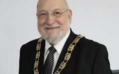 Cllr Alan Plancey with the Mayoral chains.