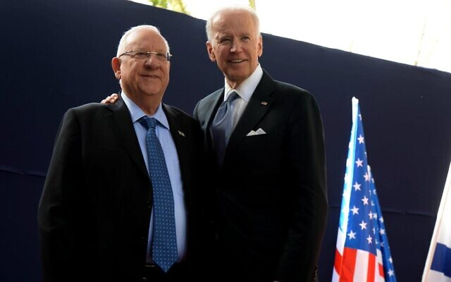 President Rivlin with Joe Biden on a previous occasion. After the Democrat was elected the next President, he had a phone conversation with the two Israeli leaders