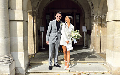 Georgia Kirsch, 28, and Ronnie Morgan, 29,at their civil ceremony on 26 September