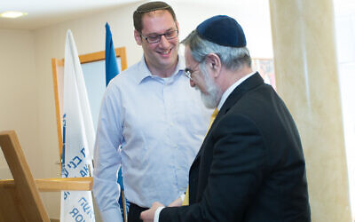 Jonny Lipczer with Rabbi Lord Sacks