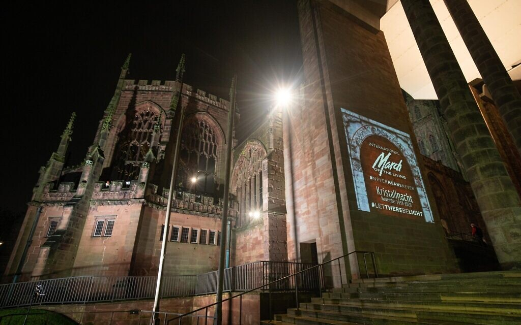 Message of commemoration  at Coventry Cathedral (Credit: Sam Churchill)