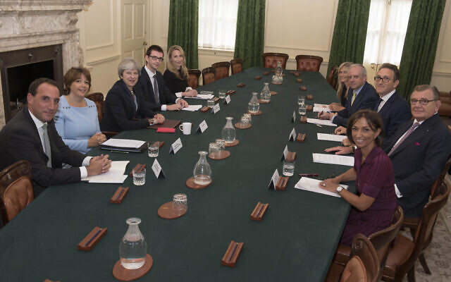 Dan (first on the left) during a roundtable discussion in the Cabinet Room at No10 with the then Prime Minister Theresa May, organised by  the Jewish Leadership Council  (2017)
