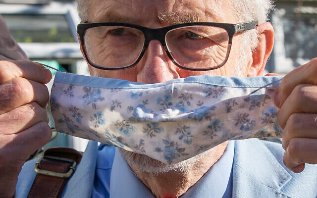 Former Labour leader Jeremy Corbyn leaves his house in North London.