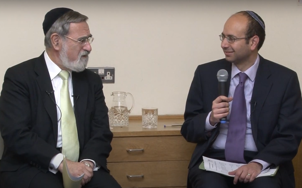 Rabbi Sacks with Rabbi Zarum