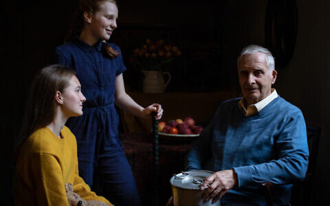 Steven Frank, 84, who survived multiple concentration camps as a child but lost his father at Auschwitz, alongside his granddaughters Maggie and Trixie Fleet, aged 15 and 13.