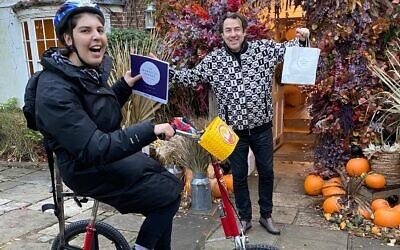 Host Jonathan Ross got involved with Norwood after seeing Talya, the eldest daughter of the charity's chief executive, cycling past his house during the first lockdown in May. Talya has mild quadriplegic cerebral palsy, learning disabilities and a severe visual impairment