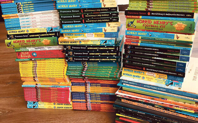 Horrid Henry author Francesca Simon is donating hundreds of books, many of them signed and £1,000 was raised in donations this week for gift buying.