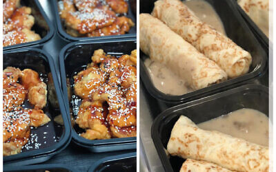 Kosher sweet & Sour chicken and blinzes are now on the menu!