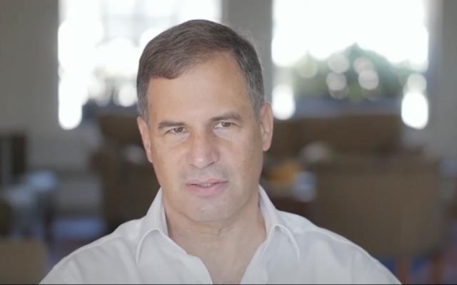 Eytan Stibbe (Screen shot from YouTube via JTA)