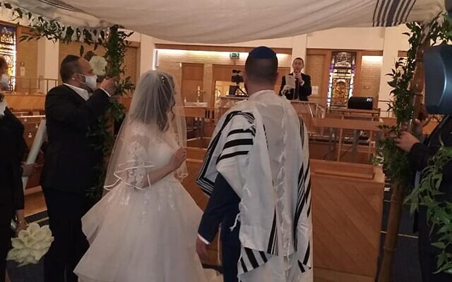 James and Debbie under the Chuppah
