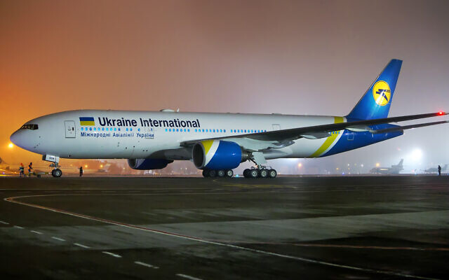 Ukraine International Airlines' first Boeing 777-200ER (Wikipedia/ Source	http://spotters.net.ua/file/?id=118826&size=large. Author: Oleg V. Belyakov / Attribution-ShareAlike 3.0 Unported (CC BY-SA 3.0) )