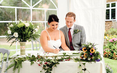 Claudia Green and Richard Fox were able to have 30 guests at their wedding in September