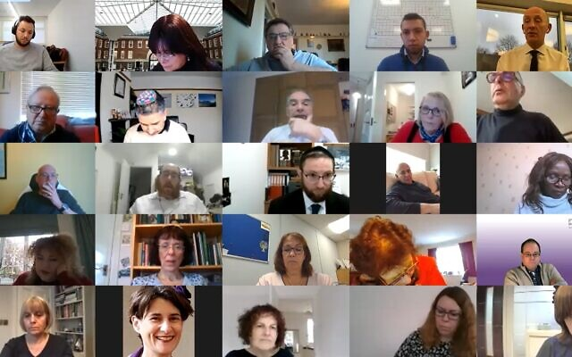 Screenshot of the meeting with Martin Machray and 17 communal organisations
