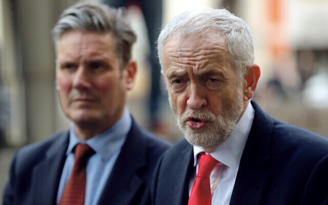 Jeremy Corbyn and Keir Starmer.  (REUTERS/Yves Herman)