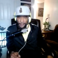 Screenshot of Lord Jamar on the podcast