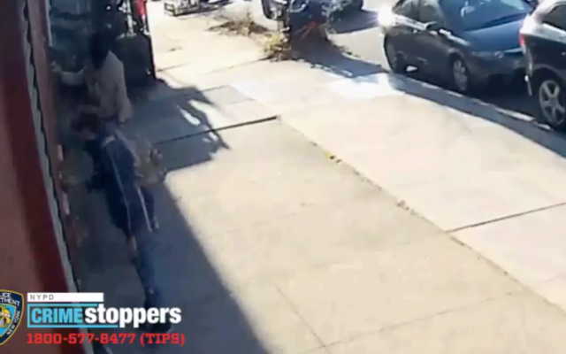 Screenshot from video on Twitter of the two suspects the police are trying to identify.