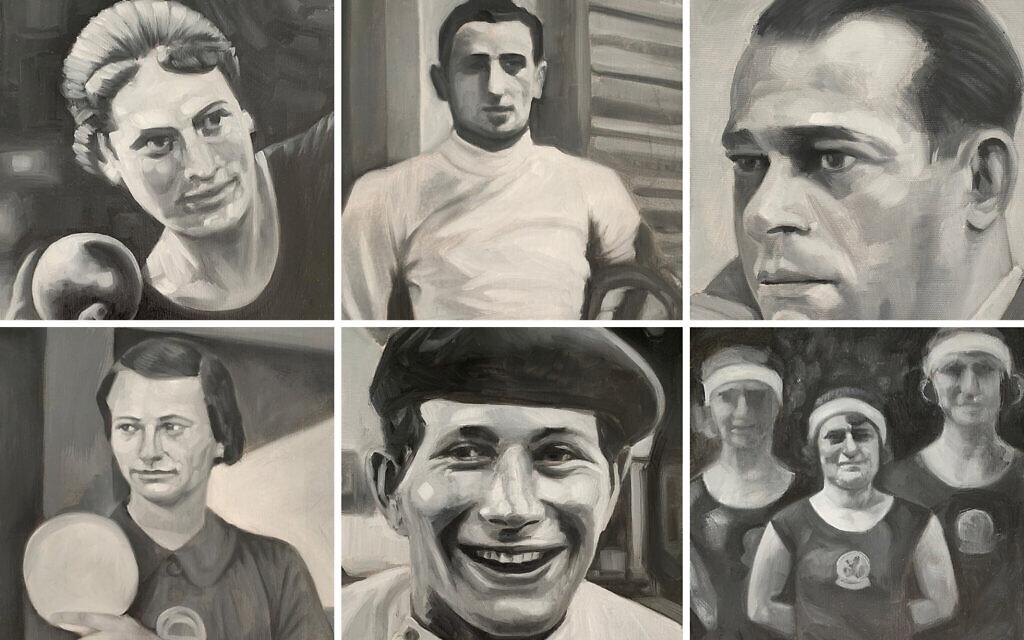 Some of the fifteen athletes featured. Top:  Lilli Henoch, Roman Kantor and Salo Landau. Bottom: Gertrude Kleinova, Attila Petschauer and Anna Dresden-Polak and Judikje Simons.