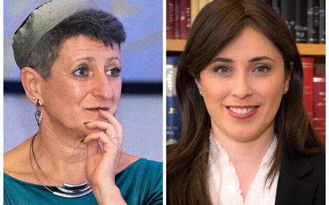 Rabbi Laura Janner-Klausner and Tzipi Hotovely
