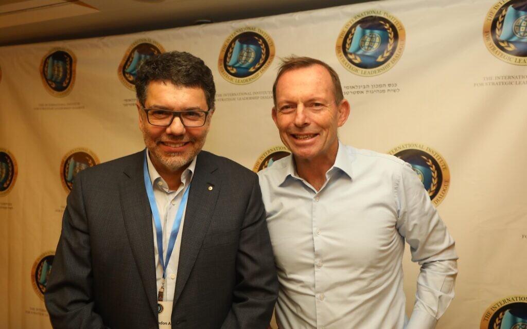 Albert with former Australian PM Tony Abbott