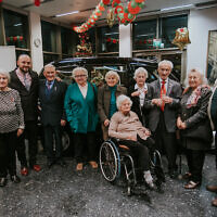 Jonny Daniels (second left) with Righteous Among the Nations in Poland. Holocaust survivor Edward Mosberg is third from the right.