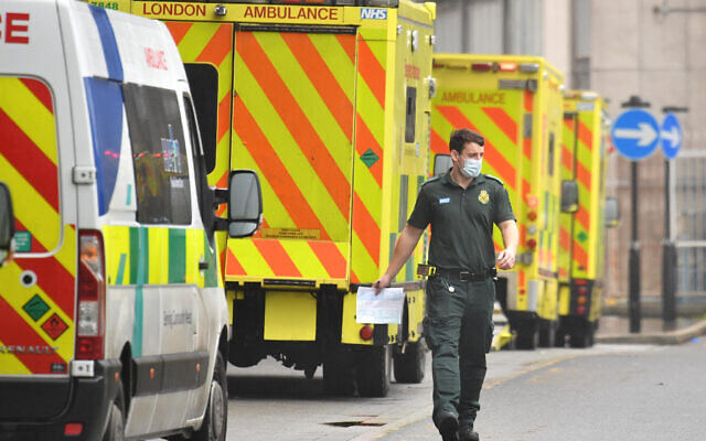 A paramedic outside the Royal London Hospital in London. PA Media